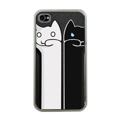 Texture Cats Black White Apple iPhone 4 Case (Clear)