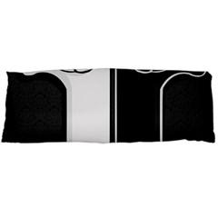 Texture Cats Black White Body Pillow Case (Dakimakura)