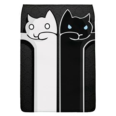 Texture Cats Black White Flap Covers (S)