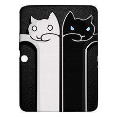 Texture Cats Black White Samsung Galaxy Tab 3 (10.1 ) P5200 Hardshell Case
