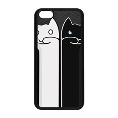 Texture Cats Black White Apple iPhone 5C Seamless Case (Black)