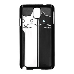 Texture Cats Black White Samsung Galaxy Note 3 Neo Hardshell Case (black)