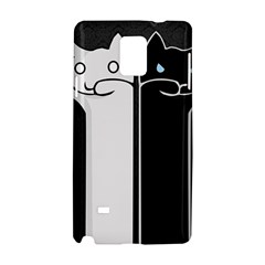 Texture Cats Black White Samsung Galaxy Note 4 Hardshell Case