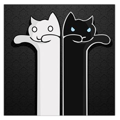 Texture Cats Black White Large Satin Scarf (Square)