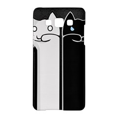 Texture Cats Black White Samsung Galaxy A5 Hardshell Case