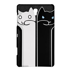 Texture Cats Black White Samsung Galaxy Tab S (8 4 ) Hardshell Case