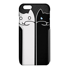 Texture Cats Black White iPhone 6/6S TPU Case