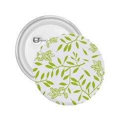 Leaves Pattern Seamless 2.25  Buttons