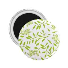 Leaves Pattern Seamless 2.25  Magnets