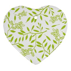 Leaves Pattern Seamless Ornament (heart)