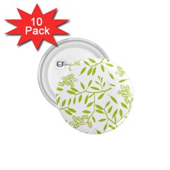 Leaves Pattern Seamless 1.75  Buttons (10 pack)