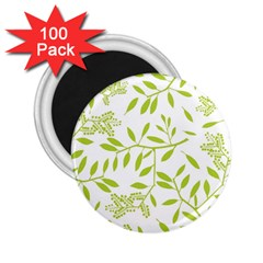 Leaves Pattern Seamless 2.25  Magnets (100 pack)