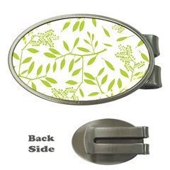 Leaves Pattern Seamless Money Clips (Oval)
