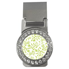 Leaves Pattern Seamless Money Clips (CZ)