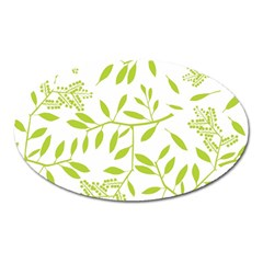 Leaves Pattern Seamless Oval Magnet