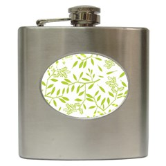 Leaves Pattern Seamless Hip Flask (6 Oz)