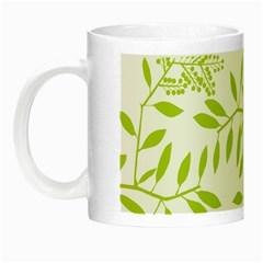Leaves Pattern Seamless Night Luminous Mugs