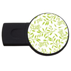 Leaves Pattern Seamless Usb Flash Drive Round (4 Gb)