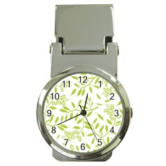Leaves Pattern Seamless Money Clip Watches