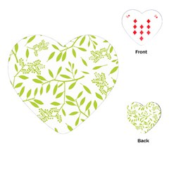 Leaves Pattern Seamless Playing Cards (heart)