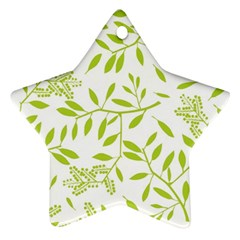 Leaves Pattern Seamless Star Ornament (two Sides)