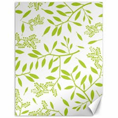 Leaves Pattern Seamless Canvas 12  x 16