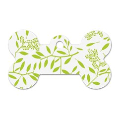 Leaves Pattern Seamless Dog Tag Bone (One Side)