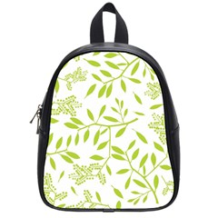 Leaves Pattern Seamless School Bags (small)
