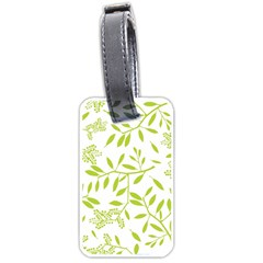Leaves Pattern Seamless Luggage Tags (one Side)