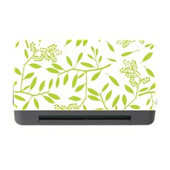 Leaves Pattern Seamless Memory Card Reader With Cf