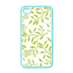 Leaves Pattern Seamless Apple iPhone 4 Case (Color)