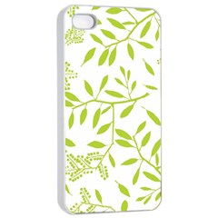 Leaves Pattern Seamless Apple iPhone 4/4s Seamless Case (White)