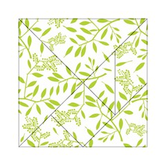 Leaves Pattern Seamless Acrylic Tangram Puzzle (6  x 6 )
