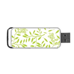 Leaves Pattern Seamless Portable USB Flash (One Side)