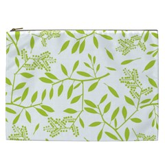 Leaves Pattern Seamless Cosmetic Bag (XXL)
