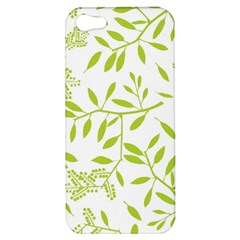 Leaves Pattern Seamless Apple Iphone 5 Hardshell Case