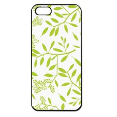 Leaves Pattern Seamless Apple iPhone 5 Seamless Case (Black)