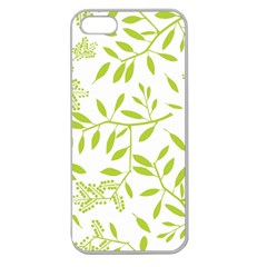 Leaves Pattern Seamless Apple Seamless Iphone 5 Case (clear)
