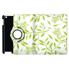 Leaves Pattern Seamless Apple Ipad 2 Flip 360 Case