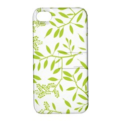 Leaves Pattern Seamless Apple Iphone 4/4s Hardshell Case With Stand