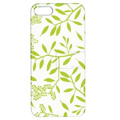 Leaves Pattern Seamless Apple iPhone 5 Hardshell Case with Stand