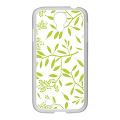 Leaves Pattern Seamless Samsung GALAXY S4 I9500/ I9505 Case (White)