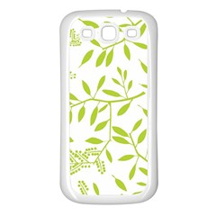Leaves Pattern Seamless Samsung Galaxy S3 Back Case (white)