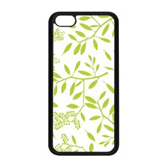 Leaves Pattern Seamless Apple iPhone 5C Seamless Case (Black)