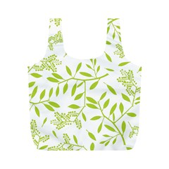 Leaves Pattern Seamless Full Print Recycle Bags (M)