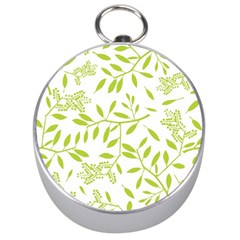 Leaves Pattern Seamless Silver Compasses