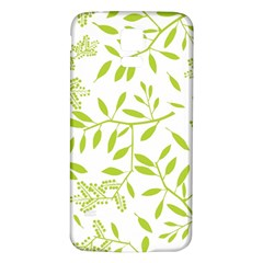 Leaves Pattern Seamless Samsung Galaxy S5 Back Case (White)