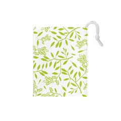Leaves Pattern Seamless Drawstring Pouches (Small)