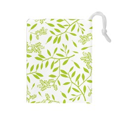 Leaves Pattern Seamless Drawstring Pouches (Large)