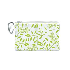 Leaves Pattern Seamless Canvas Cosmetic Bag (S)